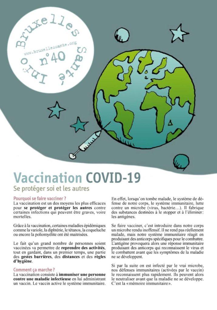 brochure sur la vaccination contre le covid-19 de Bruxelles Santé n°40