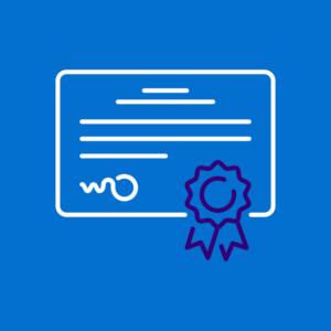 Link naar 'covid safe ticket en resultaten' - foto geeft een certificaat weer