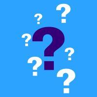 points d'interrogation bleus et blancs symbolisant les questions sur le covid-19
